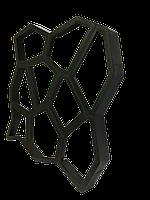 Форма для садовой дорожки 600*600*60 мм, трафаретная форма для плитки, садовая дорожка