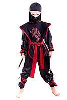 Детский карнавальный костюм Ниндзя черный