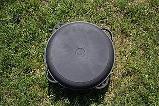 Казан чугунный 17л с крышкой сковородой (d=450, V=17 л), фото 2
