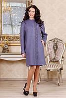 Демисезонное женское темно-серое пальто В-1022 Aрт.160416 Тон 20 44-52 размер