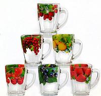 Стеклянная кружка Капучино Сочные фрукты на 300 мл Gallery Glass 85003321