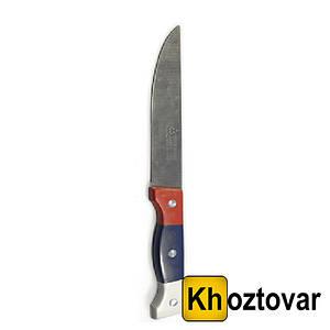 Нож трехцветная ручка 3-ка | Длина лезвия 7,5 см.