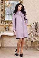 Демисезонное женское сиреневое пальто В-1022 Aрт.160416 Тон 74 44-52 размер