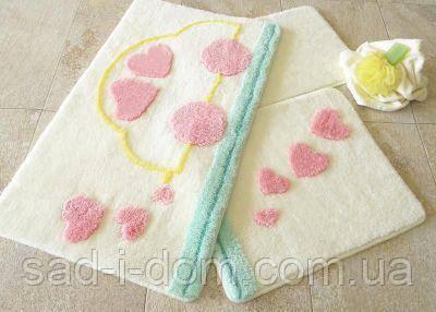 Набор ковриков для ванной, коврик в ванную, Турция Alessia