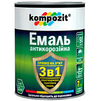 Эмаль Kompozit 3в1 антикоррозийная коричневая 2.7 кг