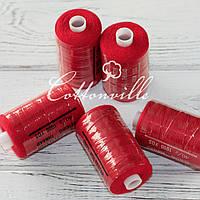 Нитки швейные 40s/2 прочные (1000Y) цвет красный темный