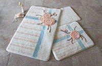 Коврики (набор) для ванной ALESSIA набор 3 предмета