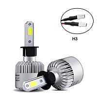 Светодиодная LED лампа головного света H3 COB 8000Lm 36Watt, фото 1
