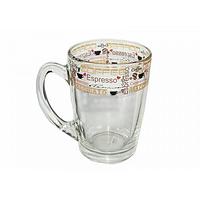 Стеклянная кружка Капучино Кофе лента на 300 мл Gallery Glass 85003376