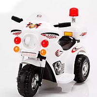 Детский мотоцикл на аккумуляторе M 3576-1 белый