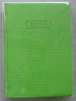 """Ежедневник датированный А5, салатовый с рельефным рисунком """"CLEN""""  """"Optima"""""""
