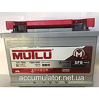 Аккумулятор Mutlu SILVER Super Calcium 75А/ч (Прямой)+левый