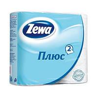 Бумага туалетная Zewa Плюс Белая 4 рулона 2 слоя