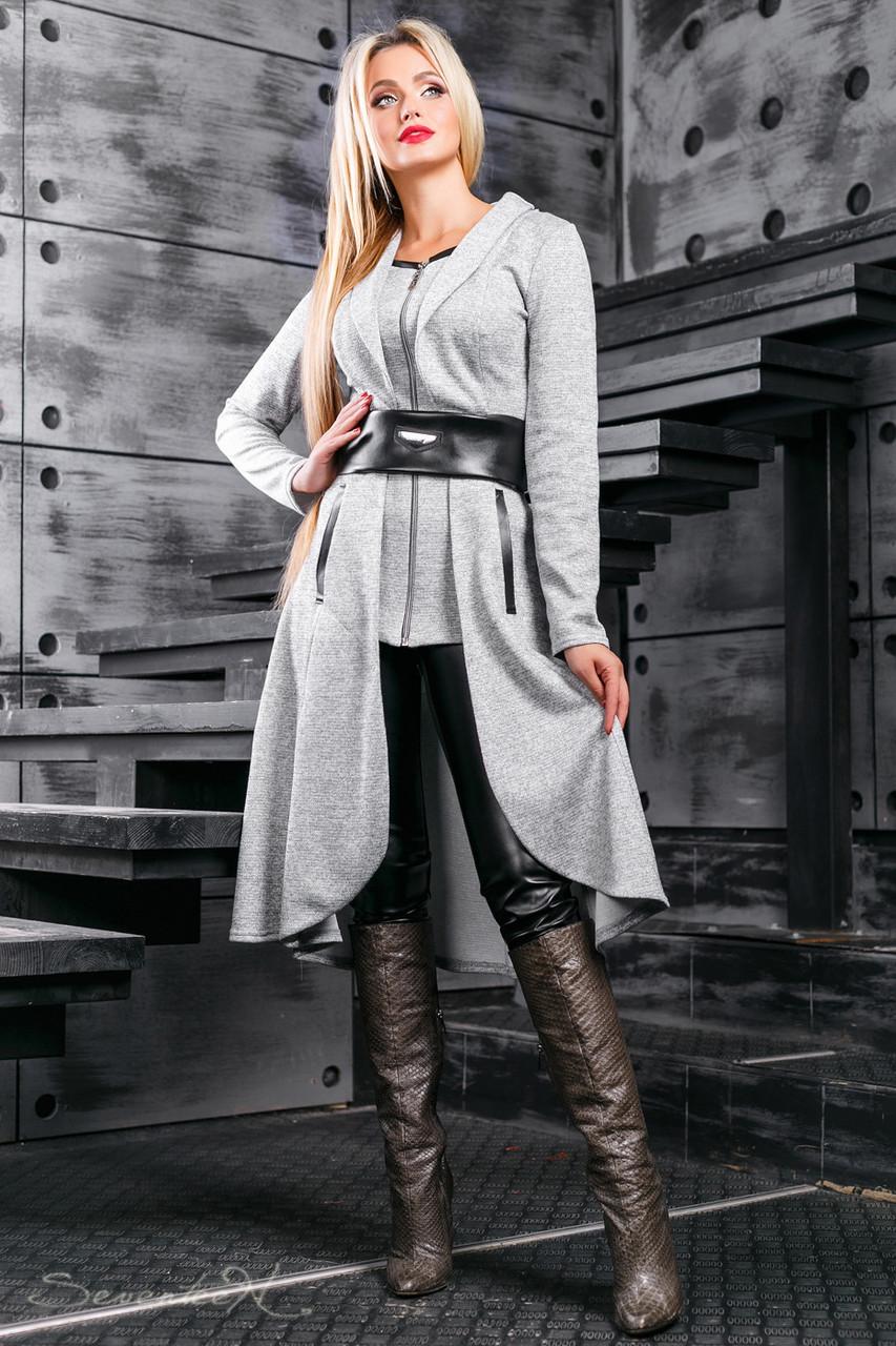 Красивый женский  кардиган 2395 серый