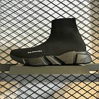 Кроссовки Balenciaga Speed stretch-knit Mid Black (реплика)