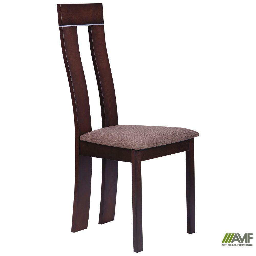 Обеденный стул Лестер СВ-2421YBH орех темный/ткань коричн.