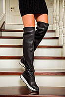 Кожаные сапоги ботфорты L20110