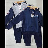 Теплый спортивный костюм цвет темно синий 152 см