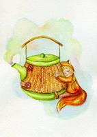 """Открытка """"Полосатый чайник"""", фото 1"""