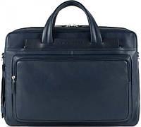 Отличный кожаный портфель для мужчин Piquadro IGUAZU/Blue, CA3147S88_BLU синий