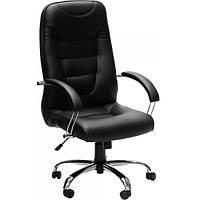 Кресло Новий Стиль Boston Steel Chrome Eco-30 черное