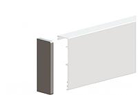 Маскировачная планка для стеклянных дверей, Valcomp Herkules GLASS с заглушками и щеткой против пыли