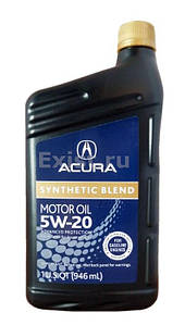 "Масло моторное ""acura synthetic blend 5w-20"", 0.946л"