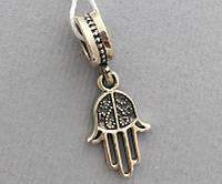 """Серебряная подвеска шарм для браслета Pandora """"Рука Фатимы""""  Арт.0057431"""