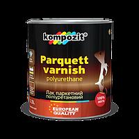 Лак паркетный полиуретановый KompozitAqua parquett композит глян. 1 л.