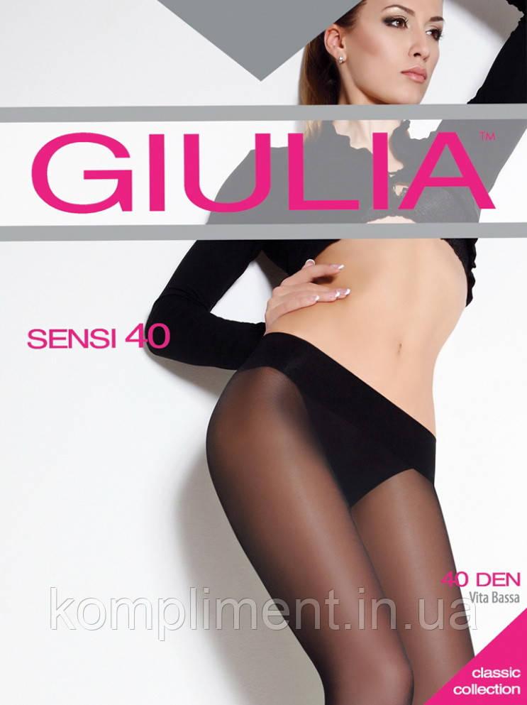 Колготки із заниженою талією GIULIA SENSI 40 vita bassa