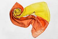 Шарф Меланья лилия оранжевый+желтый