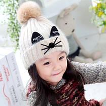Шапка детская с ушками на отвороте PHOTO , фото 2