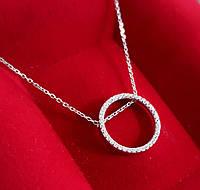 Серебряная цепочка с кулоном Карма Серебряное колье