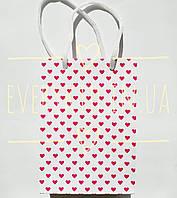 Пакет бумажный Малиновое сердечко 13х17.5см