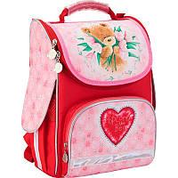 Рюкзак Kite Popcorn Bear-2 PO17-501S-2 школьный каркасный детский для девочек 34см х 26см х 13см