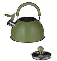 Чайник на газ 2л.Зеленый (1340)