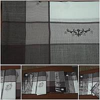 Стильная скатерть с вышивкой на большой стол, лен, 150х220 см., 496/446 (цена за 1 шт. + 50 гр.)
