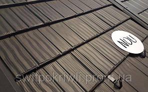 Модульная металлочерепица Novatik Wood, фото 3