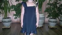Сарафан-платье, девочка, чёрный, школа