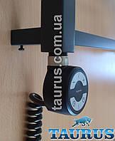 Чёрный ТЭН с регулятором + таймер 2 ч. (Польша) для полотенцесушителя - 200-600Вт.