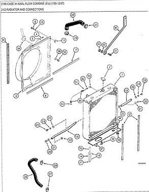 Радиатор водяного охлаждения двигателя комбайна CASE 2166/2188, фото 2