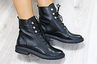 Женские зимние ботинки на шнурках