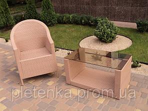 Кресло плетенное из искусственного ротанга  №26