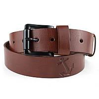 Мужской кожаный ремень W-02 (коричневый)