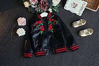 Куртка  для девочки с цветами