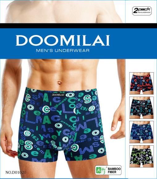 Мужские стрейчевые боксеры Марка «DOOMILAI» Арт.D-01020