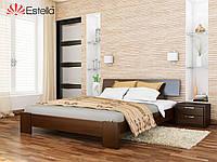 Кровать Титан тм Эстелла Массив бука, 120х190/200, №101 Тёмный орех