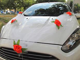Фатиновые ленты с цветами