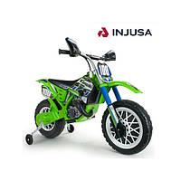 Детский мотоцикл на аккумуляторе Cross Kawasaki 6V Injusa - Испания