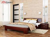 Кровать Титан тм Эстелла Массив бука, 120х190/200, №104 Красное дерево